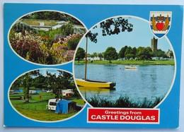 Carte Postale : ECOSSE : Greetings From CASTLE DOUGLAS En 3 Vues - Scotland