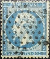 N°22. Variétés (Voir M De Empire Tâche Blanche) Oblitéré étoile De Paris Muette. Superbe... - 1862 Napoléon III