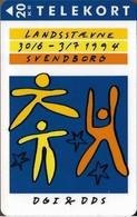 Denmark - Fyns - Dgi & Dds - Gymnastics - TDFS011 - 04.1994, 10.000ex, 20kr, Used - Denemarken