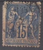 15c SAGE Oblitéré Cachet 17 BORDEAUX CENTRAL (Gironde) - Marcofilie (losse Zegels)