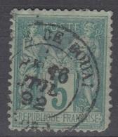 5c SAGE Oblitéré Cachet 18 GARE DE DOUAI (Nord) - Marcofilie (losse Zegels)