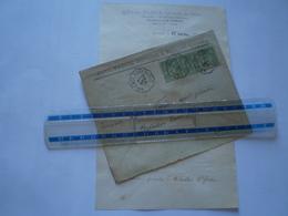 LAC Romans, Drôme 1896, 5 C Sage X 3 Décentrés, Cachets Convoyeur Valence à Grenoble, Enveloppe Commerciale Paul Farge - Marcofilie (Brieven)