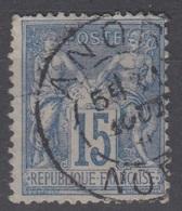 15c SAGE Oblitéré Cachet A ANOR (Nord) - Marcofilie (losse Zegels)