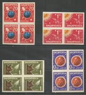 4x ALBANIA - MNH - Space - Imperf. - 1957 - Espace