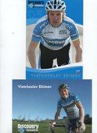 CYCLISME   Tour De France  2 CARTES DE VIATCHESLAV EKIMOV - Cyclisme