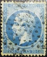 N°22. Variétés (Voir Tâche Blanche Au Cou) Oblitéré étoile De Paris Muette. - 1862 Napoléon III