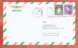 Luftpost, Nationale Symbolik, MS Dublin Baile Atha..., Nach Hamburg 1968 (94539) - 1949-... Repubblica D'Irlanda