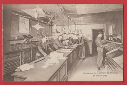 JOURNAL L'ACTION FRANCAISE : Imprimerie La Mise En Pages ; Paris 8 , 14 Rue De Rome - Métiers