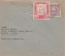 PARAGUAY ENVELOPPE, CIRCULEE DE ASUNCION A BUENOS AIRES, ARGENTINE ANNEE 1935 BANDELETA PARLANTE-LILHU - Paraguay