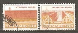 Denmark: Full Set Of 2 Used Stamps, 350 Years Of Niboder Development, 1981, Mi#728-729 - Dänemark