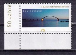 Germany 2013 Fehmarnsund Bridge 1v MNH - Brücken
