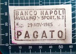 Timbro Italia Banca 1965 Banco Napoli Avellino - Frammento - Seals Of Generality