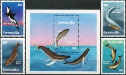 GRENADA 1982 Whales Dolphins Sperm Whale Marine Life Animals Fauna MNH - Balene