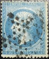 N°22. Variétés (Voir Le Nez, Chevelure, Manque Des Points Dans La Cartouche Inférieur) Oblitéré étoile De Paris. Superbe - 1862 Napoléon III