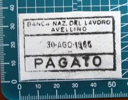 Timbro Italia 1965 Banca  Nazionale Del Lavoro Avellino - Frammento - Seals Of Generality