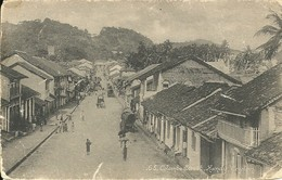 COLOMBO STREET - CANDY - CEYLON - SCRUFFY POSTCARD - Sri Lanka (Ceylon)