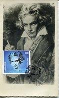 55038 Germany Maximum 2020 Ludwig Van Beethoven, First Day Postmark Bonn, Vintage Card - Musik