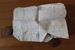 1681 2 Manuscrits Sur Velin Avec Cachet De Cire Avec Fleurs De LYS    METZ - Manuscripts