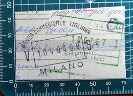 Timbro Italia  Banca Commerciale Italiana Milano - Frammento - Seals Of Generality