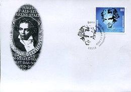 55041 Germany Special Postmark Bonn First Day  02.1.2020 250 Year Birth Ludwig Van Beethoven, - Musik