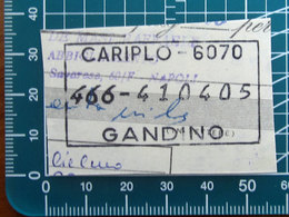 Timbro Italia  Banca Cariplo - Gandino - Frammento - Seals Of Generality