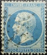 N°22. Variétés (Voir Traces Blanches Dans Le Fond) Oblitéré étoile De Paris N°17 - 1862 Napoléon III