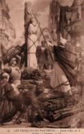 CPA - JEANNE D'ARC Sur Le Bûcher - Fresques Du PANTHEON ... - Edition L.L. - Femmes Célèbres