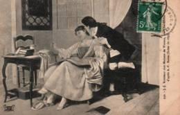 CPA - J.Jacques ROUSSEAU Chez Mme DE WARENS Aux CHARMETTES - Œuvre De A.F.BAUER … - Ecrivains