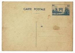 """Carte Postale """"Entier Postal"""" Défilé Du 11 Novembre Sous L'Arc De Triomphe, Paris, Non Circulé, Tâché - Cartoline Postali E Su Commissione Privata TSC (ante 1995)"""
