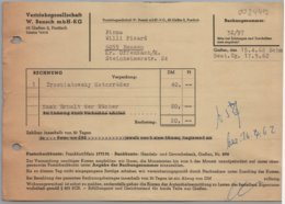 Giessen - Rechnung über Buch Trzebiatowsky Motorräder Vertriebsgesellschaft W. Bensch MbH KG - Imprimerie & Papeterie