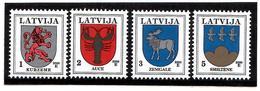 Latvia 2006 . COA 2006. Kurz,Auce,Zemg,Smilt. 4v:1,2,3,5  Michel # 371DVII, 72DVI,421DVIII,541IV - Lettonie