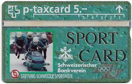 Switzerland - Swisscom (L&G) - Sporthilfe - KP100.1 - Bob - 307L - 07.1993, 5Fr, 5.000ex, Mint - Suiza