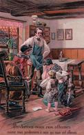 Pardonnez Nous Nos Offenses ..., Parents Et Enfants, Litho Gaufrée (7066) - Philosophy