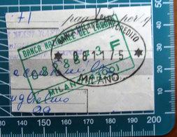 Timbro Italia  Banca Nazionale Del Lavoro + Banca Milanese Di Credito - Milano - Frammento - Seals Of Generality
