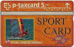 Switzerland - Swisscom (L&G) - Sporthilfe - KP100.13 - Surfing - 407L - 07.1994, 5Fr, 1.000ex, Mint - Zwitserland