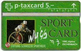 Switzerland - Swisscom (L&G) - Sporthilfe - KP100.14 - Radquer - 408L - 08.1994, 5Fr, 2.000ex, Mint - Suiza