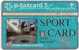 Switzerland - Swisscom (L&G) - Sporthilfe - KP100.17 - Musée Olympiqe - 411L - 11.1994, 5Fr, 1.500ex, Used - Zwitserland