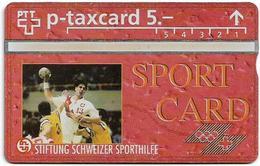 Switzerland - Swisscom (L&G) - Sporthilfe - KP100.24 - Handball - 522L - 02.1995, 5Fr, 1.500ex, Mint - Suiza