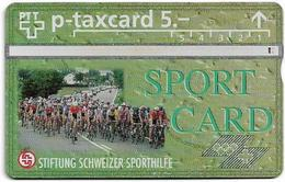 Switzerland - Swisscom (L&G) - Sporthilfe - KP100.32 - Strassenradrennen - 506L - 06.1995, 5Fr, 1.500ex, Used - Switzerland