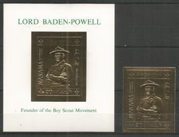 MANAMA - MNH - Famous People - Baden-Powell - Perf. + Imperf. - Gold - Célébrités