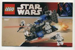 Notice De Montage Lego Star Wars Boîte Numéro 7667 - Plans