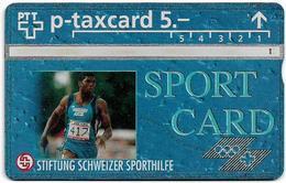Switzerland - Swisscom (L&G) - Sporthilfe - KP100.36 - Sprint - 528L - 08.1995, 5Fr, 1.500ex, Used - Switzerland
