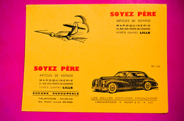 Buvard SOYEZ PÈRE N° 114, Voiture Hotchkiss, Avion - Automobil