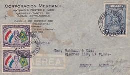 CORPORACION MERCANTIL. PARAGUAY COMMERCIAL COVER CIRCULEE DE ASUNCION A BUENOS AIRES, ARGENTINE AN 1928 PAR AVIO - LILHU - Paraguay
