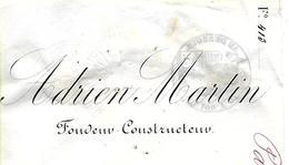 Traite 1881 / SARTHE / LE MANS / A MARTIN Fondeur Constructeur - Bills Of Exchange