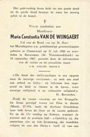 Oosterweel, Antwerpen, 1967, Maria Van De Wijngaert, - Images Religieuses