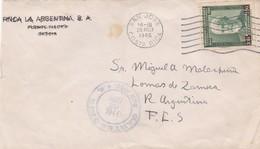 FINCA LA ARGENTINA SA. COSTA RICA COMMERCIAL COVER CIRCULEE DE SAN JOSE A LOMAS DE ZAMORA, ARGENTINE AN 1946  -LILHU - Costa Rica