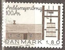 Denmark: Single Used Stamp, 100 Years Of Cooperative Dairy Farming, 1982, Mi#757 - Dänemark