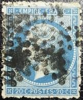 """N°22. Variétés (Voir Piquage """"cassée"""" Cartouche Inférieur Deuxième C """"fermé""""). Oblitéré étoile De Paris Muette - 1862 Napoléon III"""