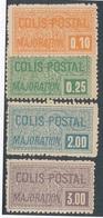 DP-119: FRANCE: Lot Avec Colis Postaux N°77/80* - Parcel Post